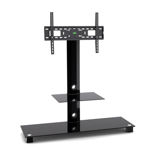 Cantilever Glass Tv Stand With Bracket For 32 To 55 Inches Plasma Lcd Tv Ebay