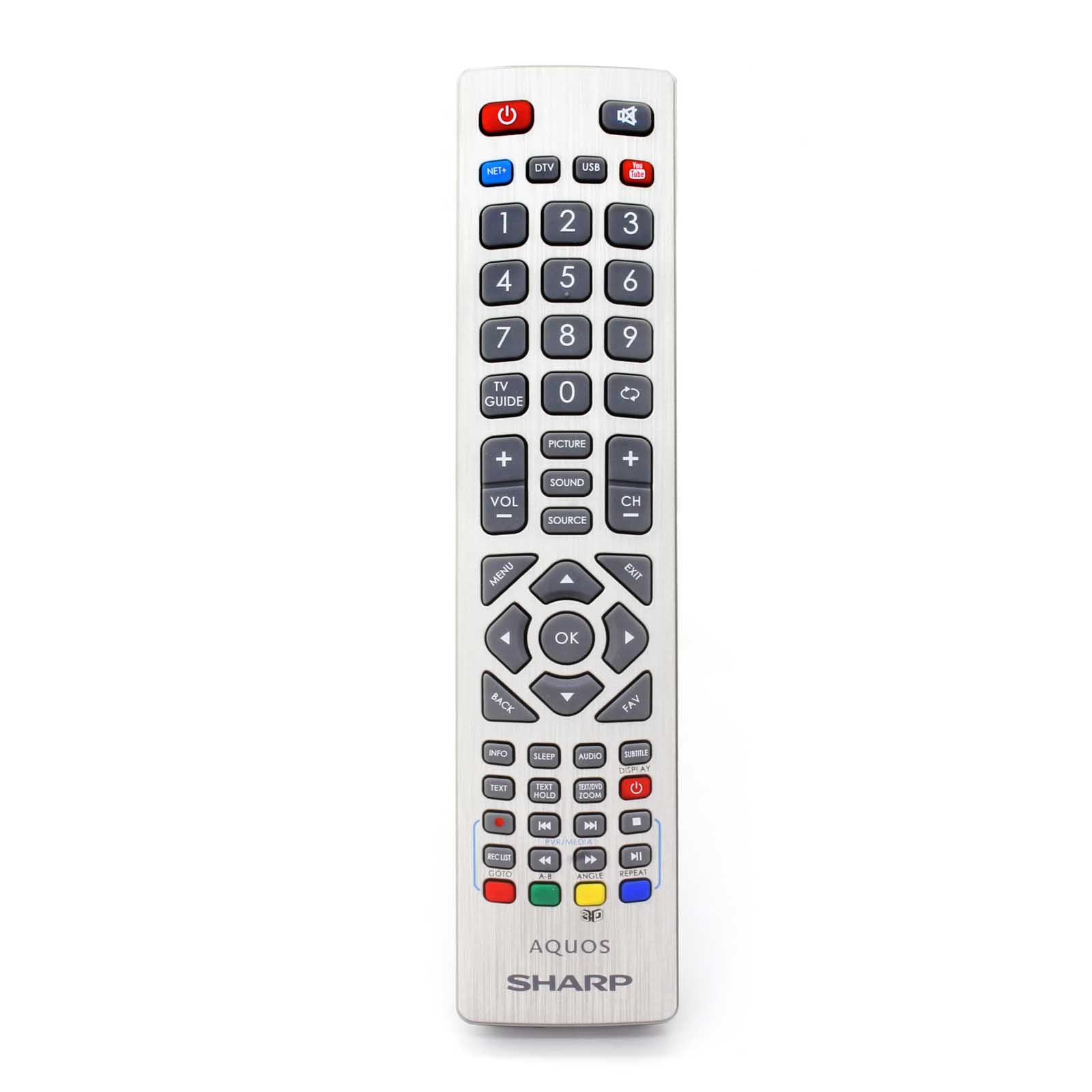 Details about Genuine Sharp Smart TV Remote Control with Youtube 3D and  NET+ Buttons