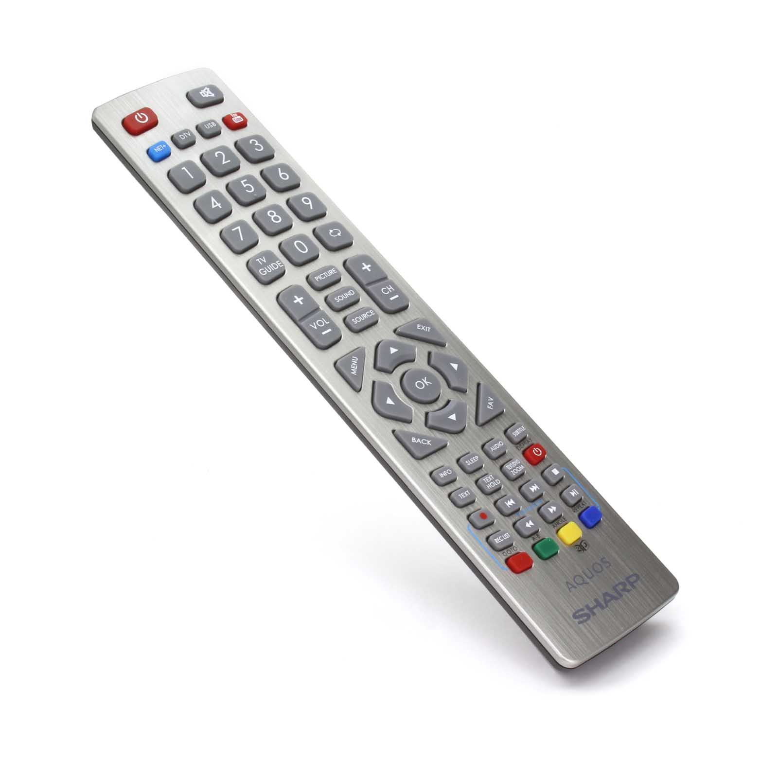 genuine sharp aquos remote control for full hd smart led freeview tv 39 s ebay. Black Bedroom Furniture Sets. Home Design Ideas